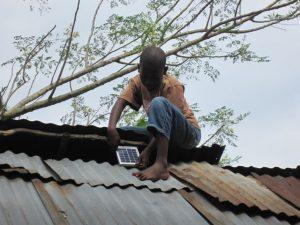 Installation auf dem Dach