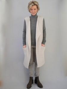 Longweste Hose grey