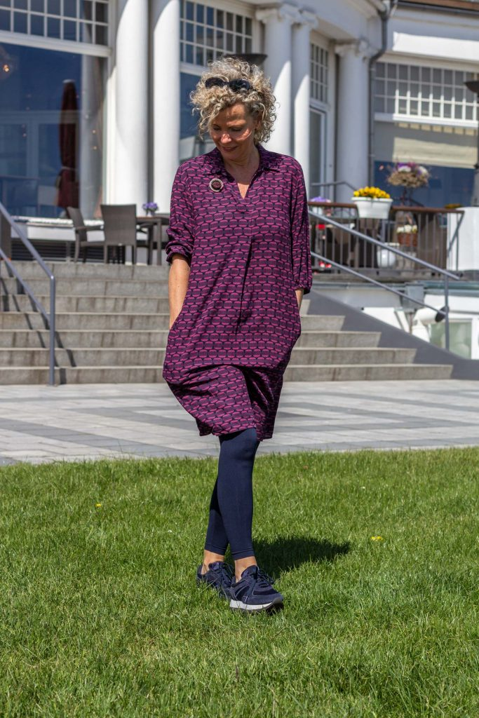 women2style, Olsen, Olsen Fashion, ue50, 50plus, Marine, Herbstlook, Kleid