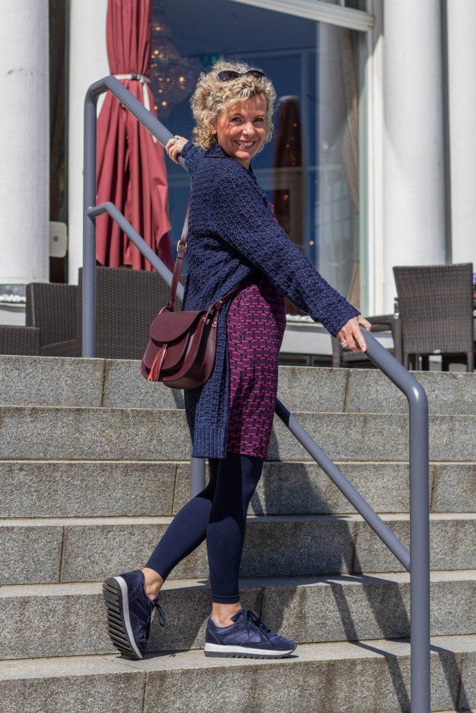 women2style, Olsen, Olsen Fashion, ue50, 50plus, Marine, Kleid, Inspiration 50plus
