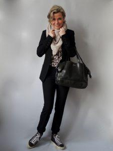 Anzug Leoshirt Tasche, Leomuster, women2style, 50 plus