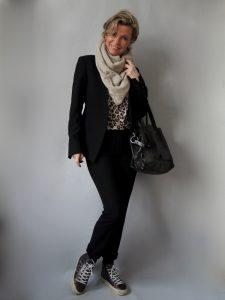 Anzug Leoshirt Tasche, 50 plus, women2style
