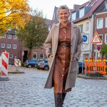 women2style, Lederkleid, braun, Wollmantel